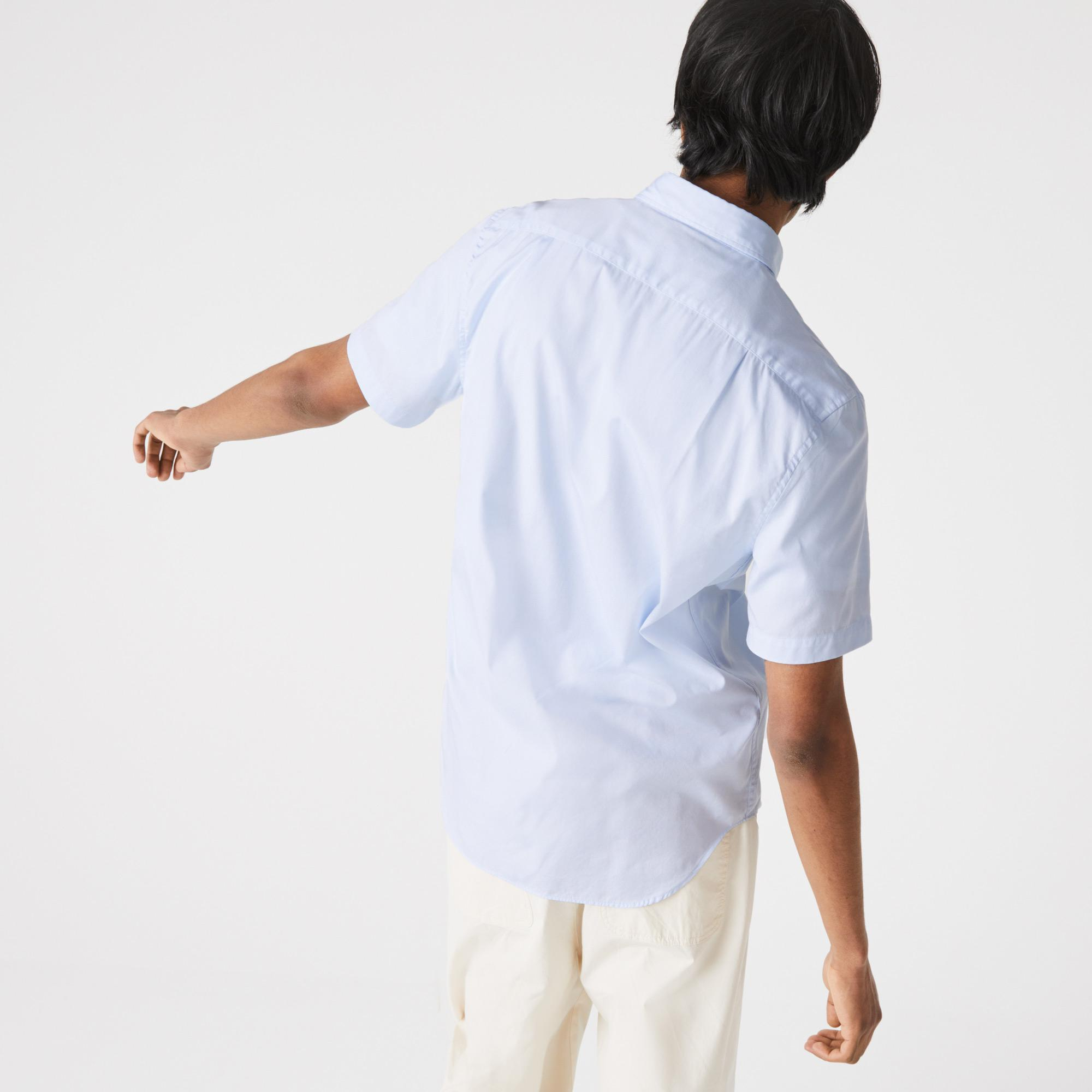 Lacoste Erkek Regular Fit Kısa Kollu Açık Mavi Gömlek