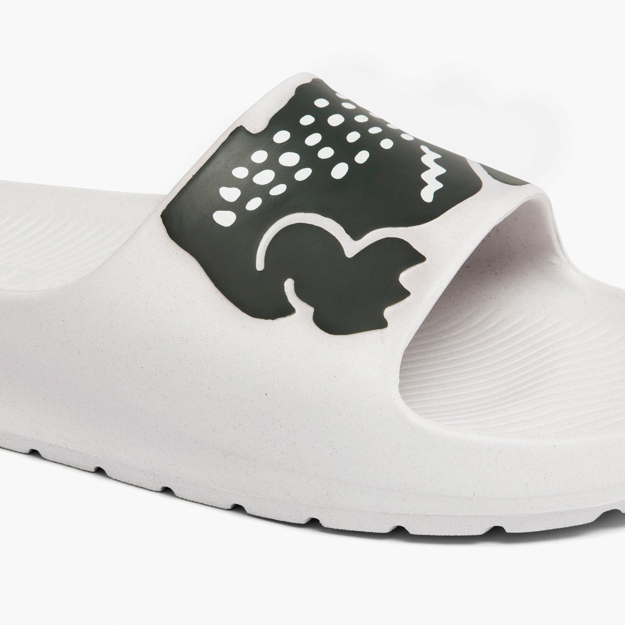 Lacoste Croco 2.0 0721 2 Cma Erkek Beyaz - Koyu Yeşil Terlik