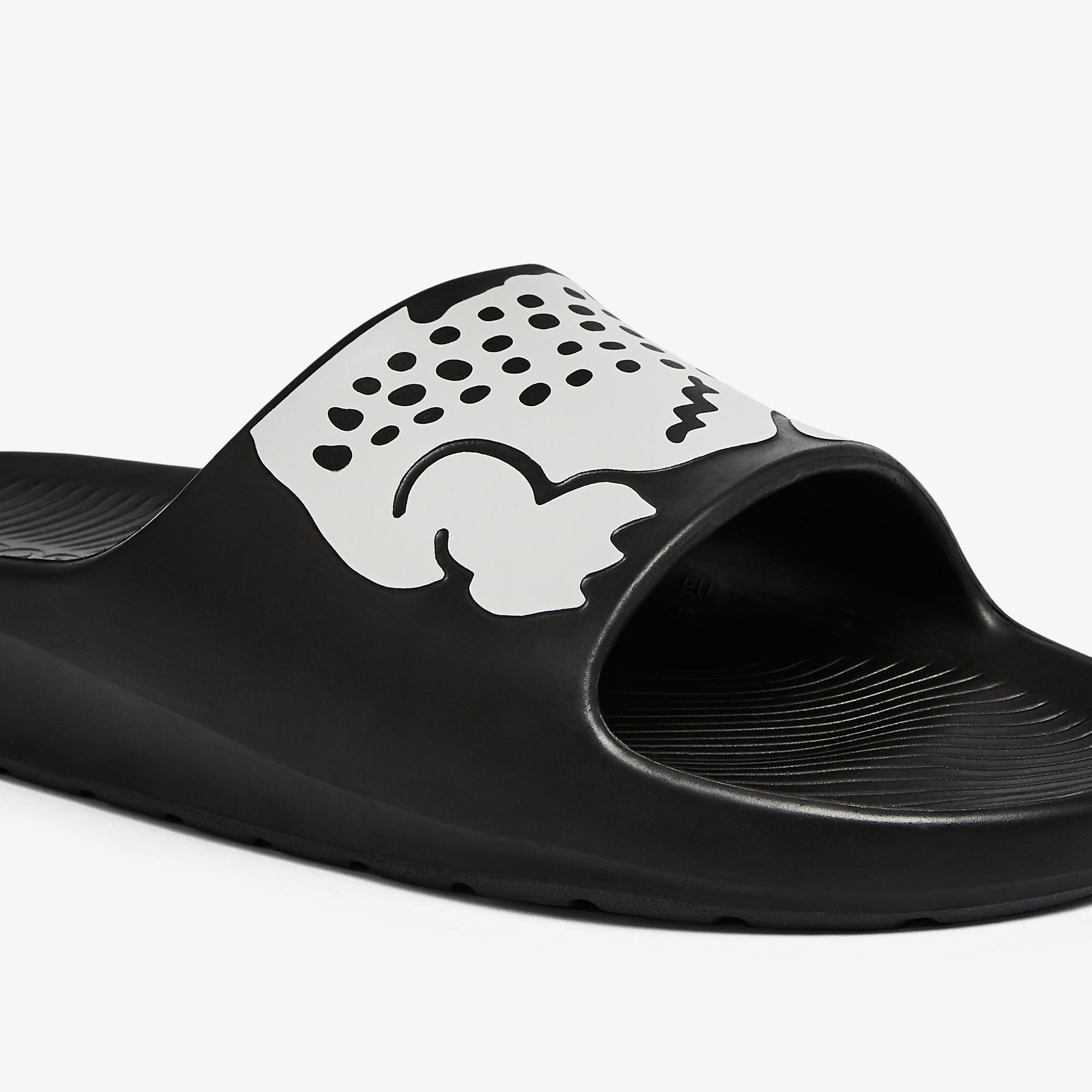 Lacoste Croco 2.0 0721 2 Cma Erkek Siyah - Beyaz Terlik