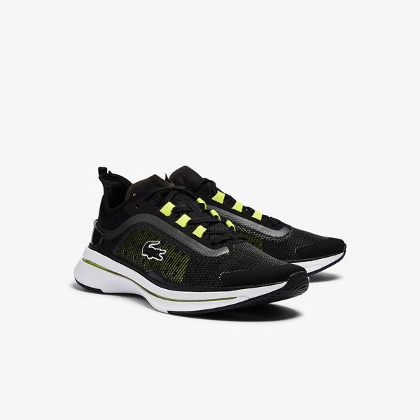 Lacoste Run Spin Ultra 0921 1 Sma Erkek Siyah - Sarı Sneaker