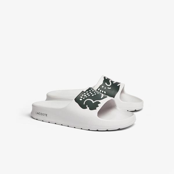 Lacoste Croco 2.0 0721 1 Cfa Kadın Beyaz - Koyu Yeşil Terlik