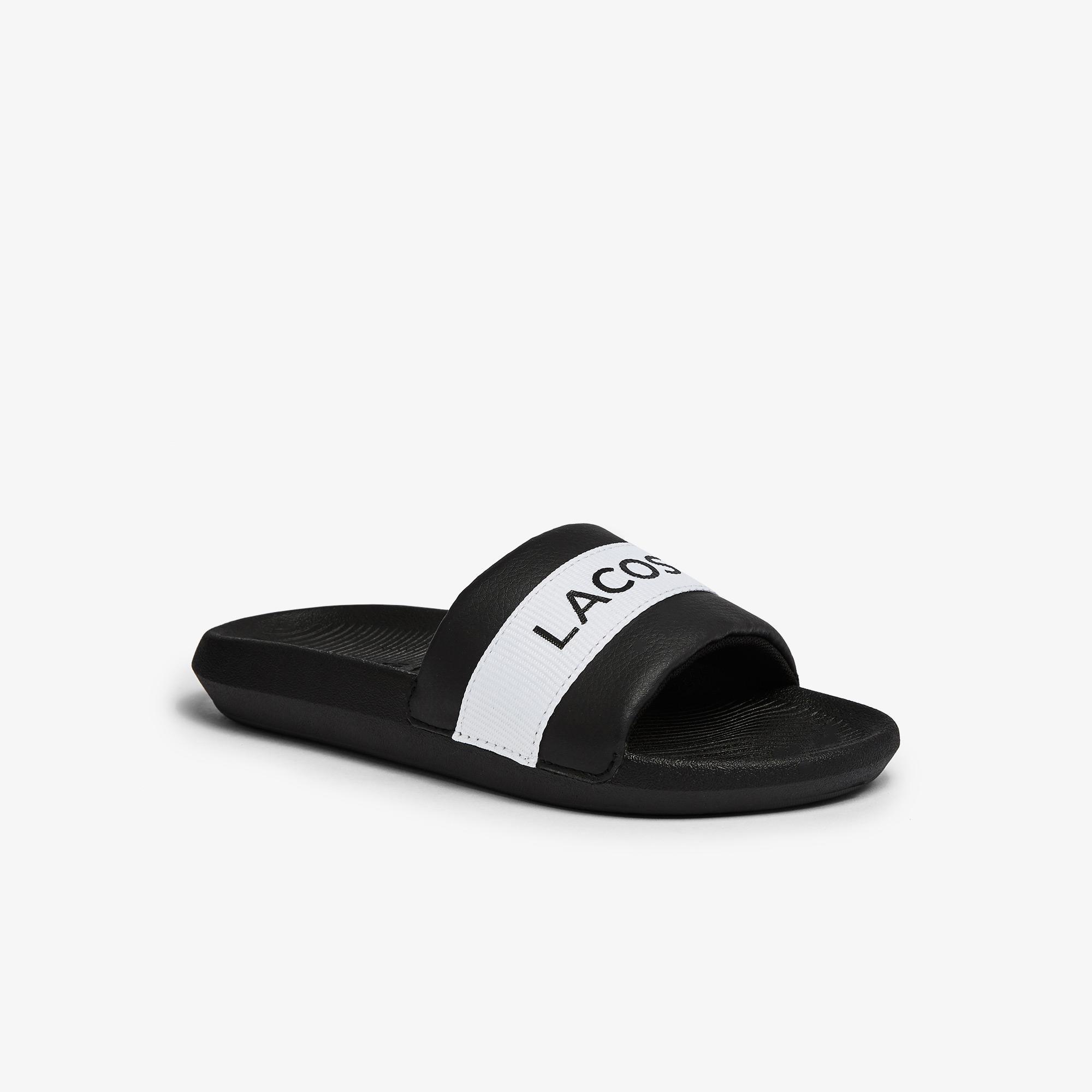 Lacoste Croco Slide 0721 1 Cfa Kadın Siyah - Beyaz Terlik