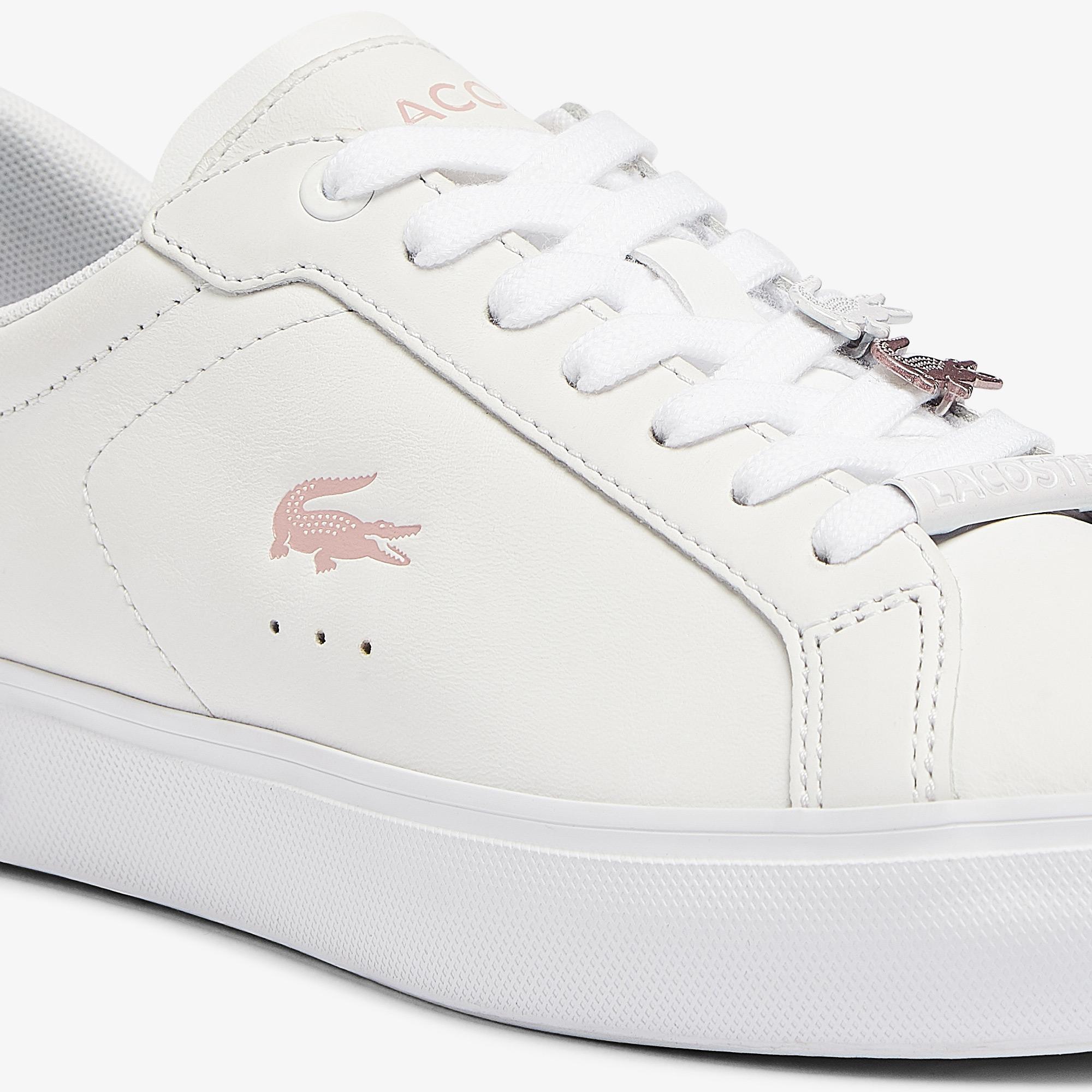 Lacoste Powercourt 0921 1 Sfa Kadın Beyaz - Pembe Sneaker