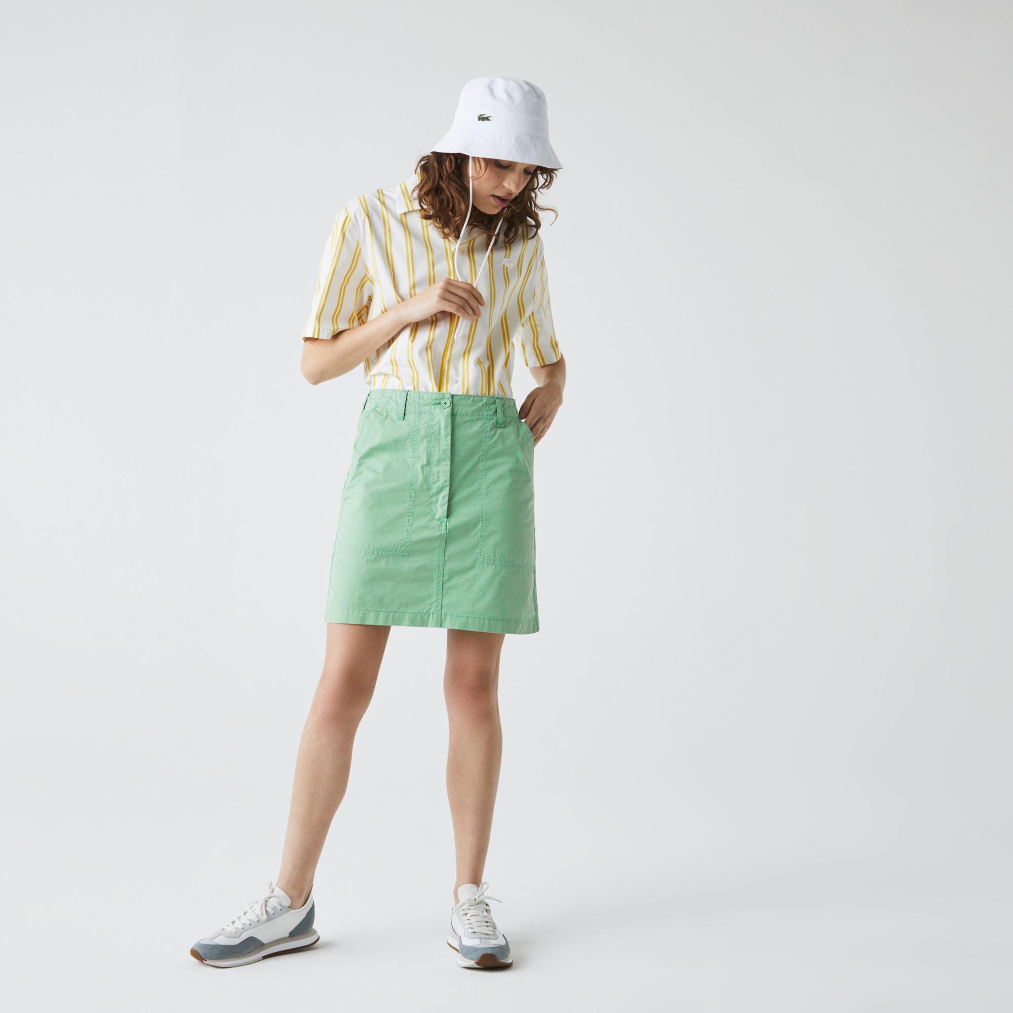 Lacoste Kadın Rahat Fit Mint Yeşil Etek