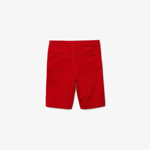 Lacoste Çocuk Kırmızı Bermuda Şort