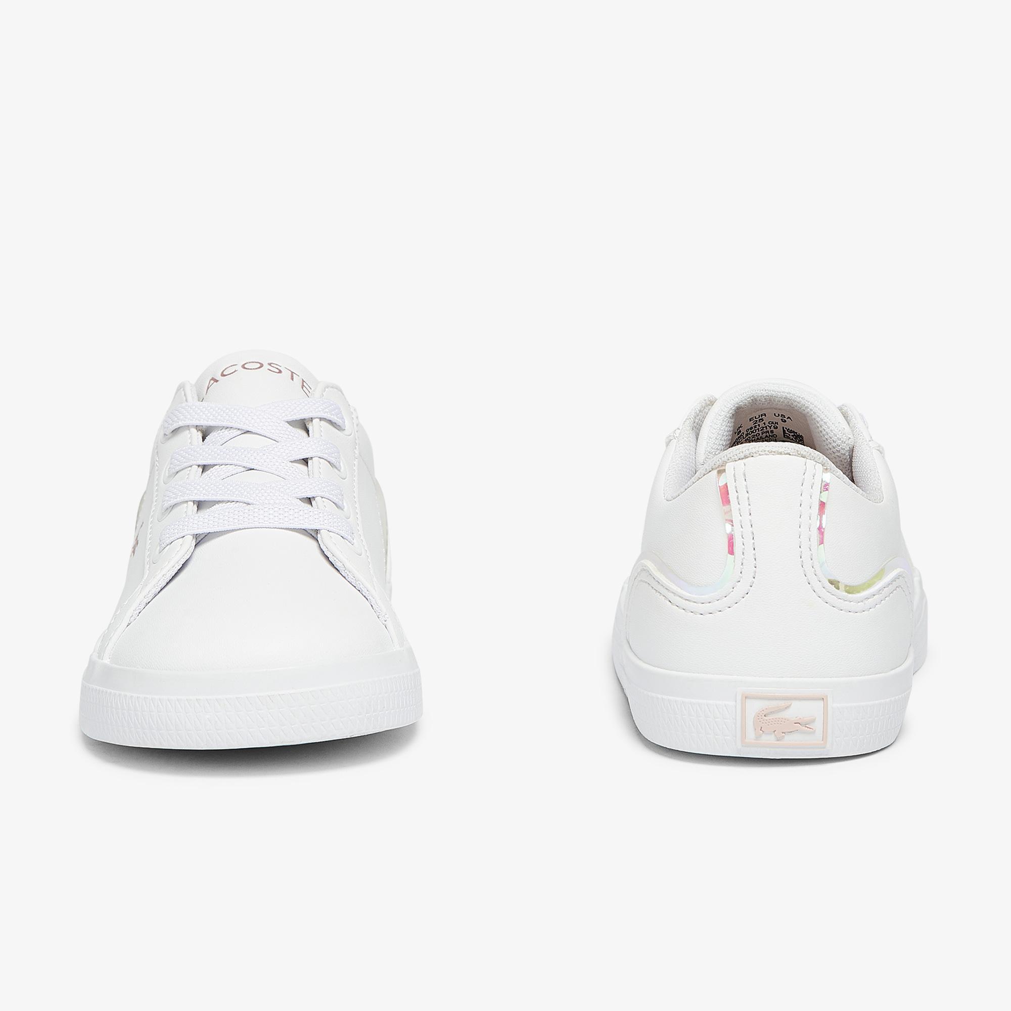 Lacoste Lerond 0921 1 Cui Çocuk Beyaz - Pembe Sneaker