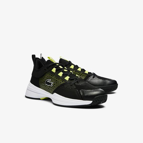 Lacoste Ag-Lt21 0921 1 Sma Erkek Siyah - Sarı Spor Ayakkabı