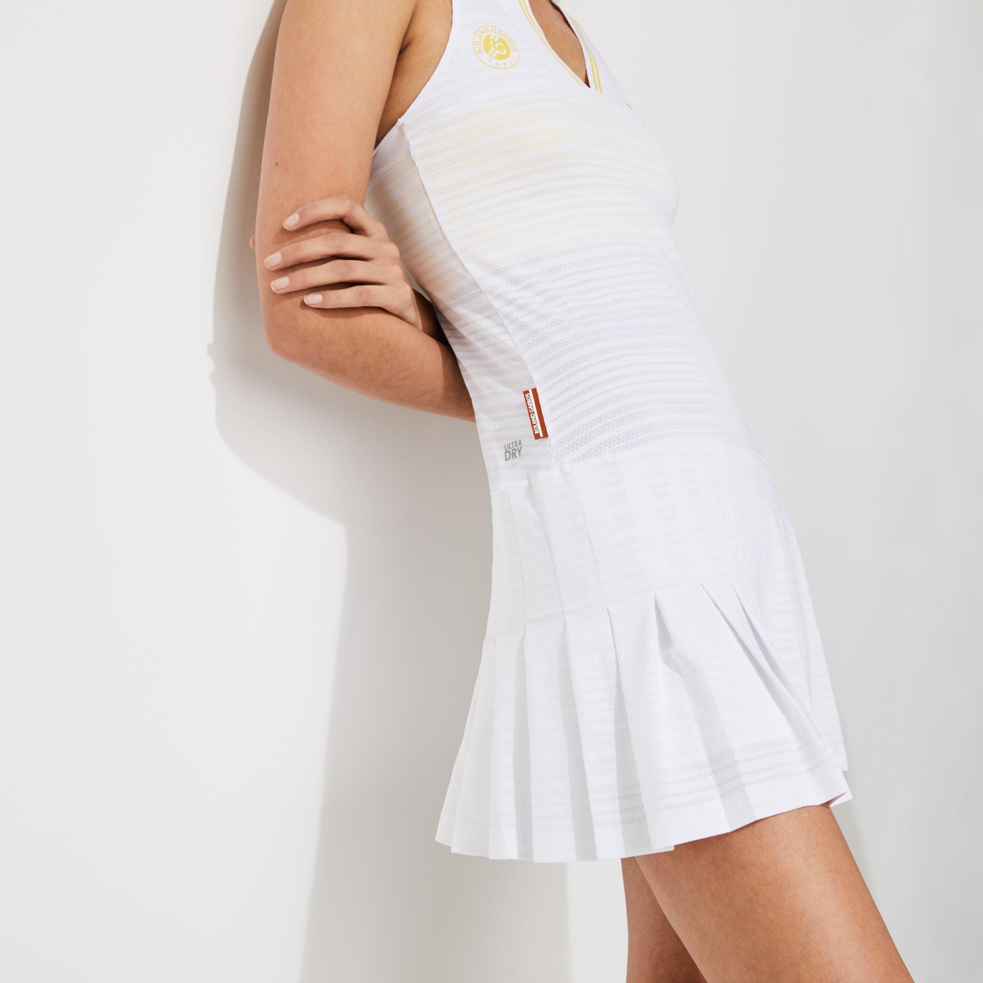 Lacoste Sport Roland Garros Kadın Kolsuz Beyaz Elbise