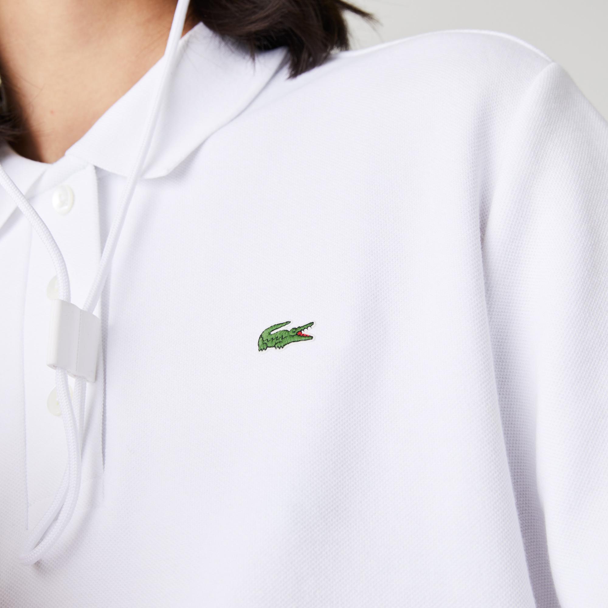 Lacoste Kadın Regular Fit Organik Pamuk Beyaz Polo