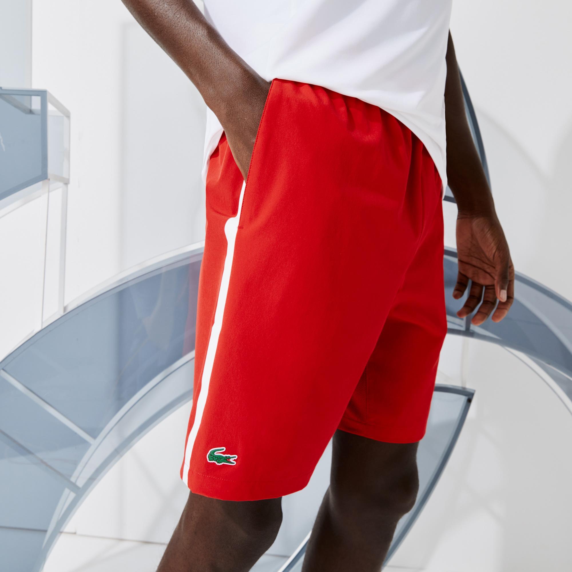 Lacoste Sport Novak Djokovic Erkek Kırmızı Şort