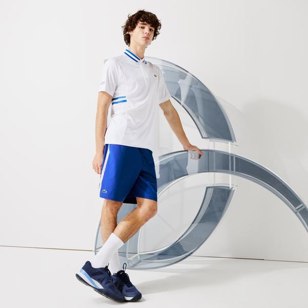 Lacoste Sport Novak Djokovic Erkek Saks Mavi Şort