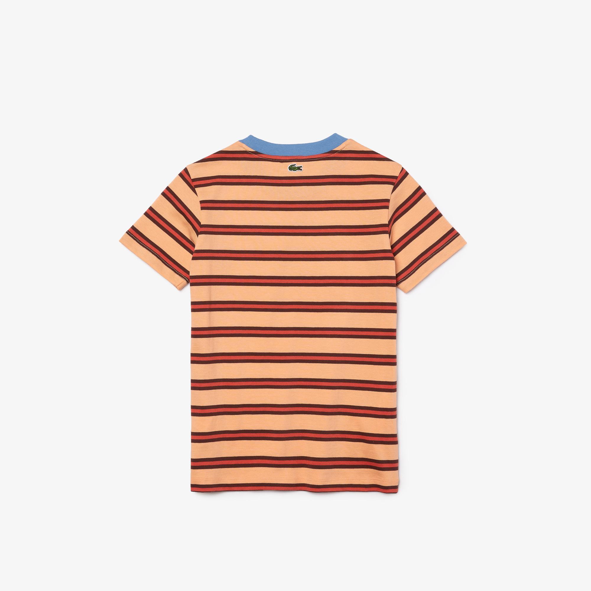 Lacoste Çocuk Bisiklet Yaka Çizgili Baskılı Kırmızı T-Shirt