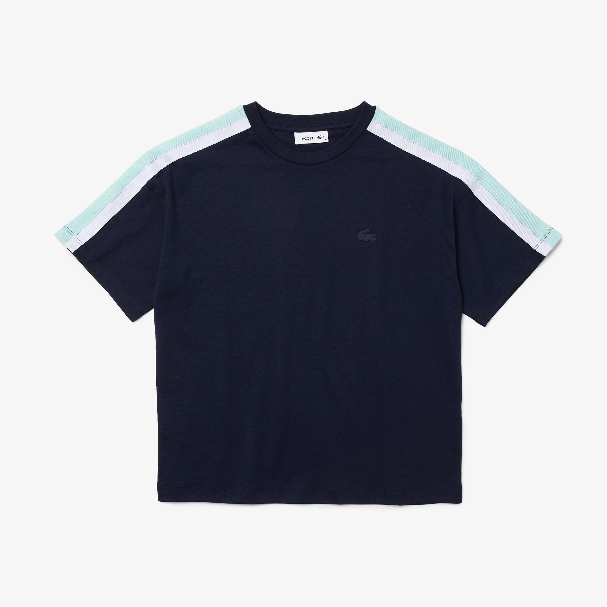Lacoste Kadın Bisiklet Yaka Lacivert T-Shirt