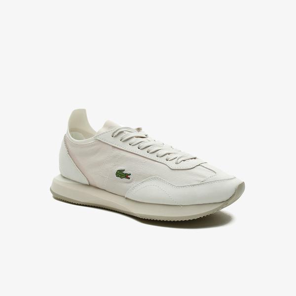 Lacoste Match Break 0921 2 Sfa Kadın Beyaz - Haki Sneaker