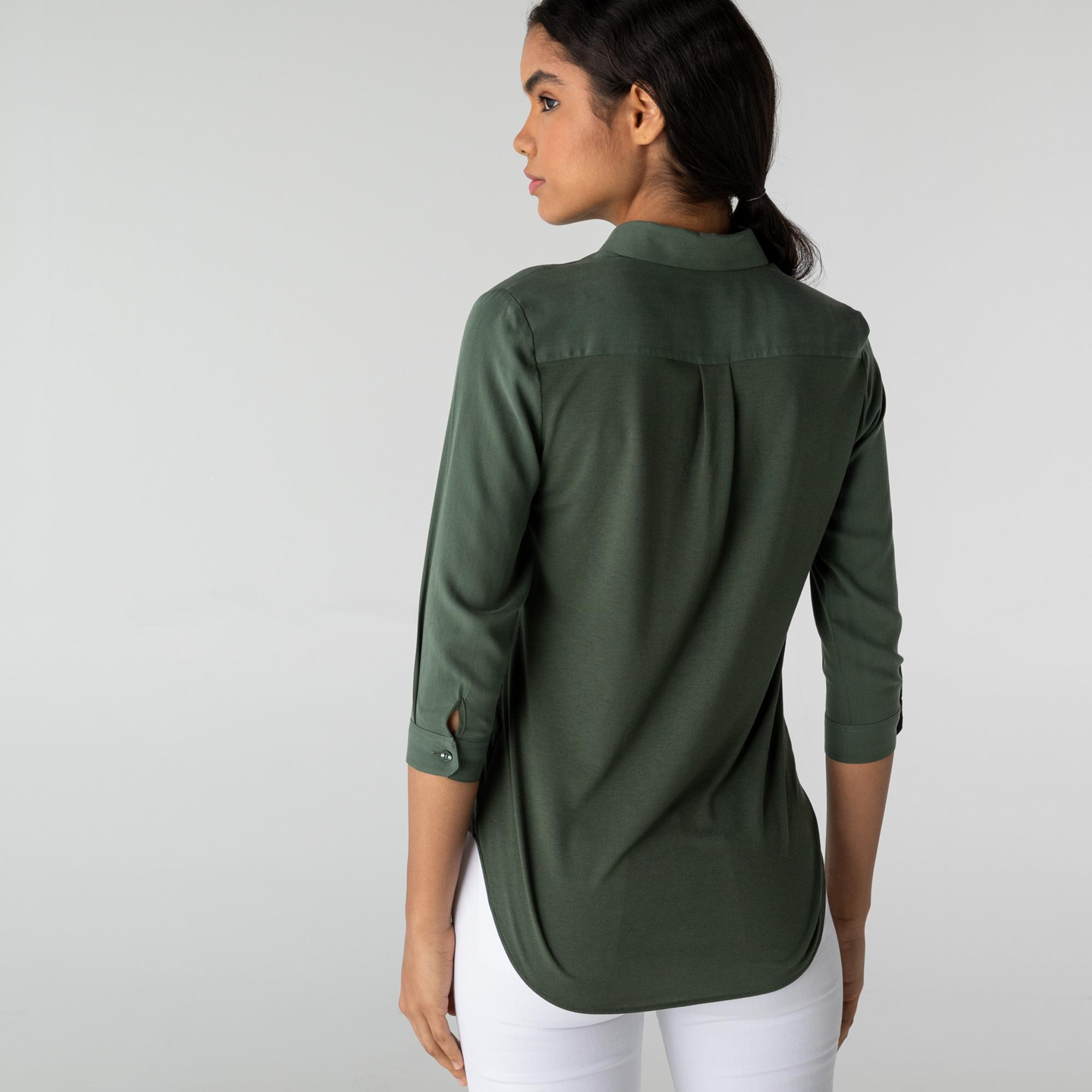 Lacoste Kadın Yeşil Gömlek