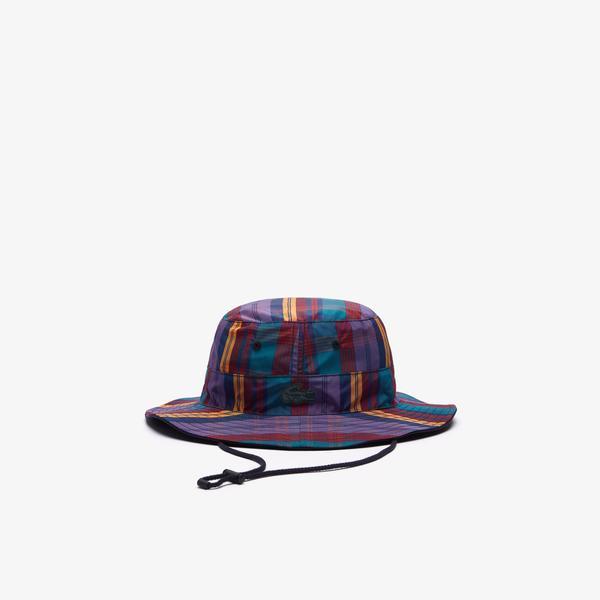 Lacoste L!ve Unisex Ekose Desenli Renkli Şapka