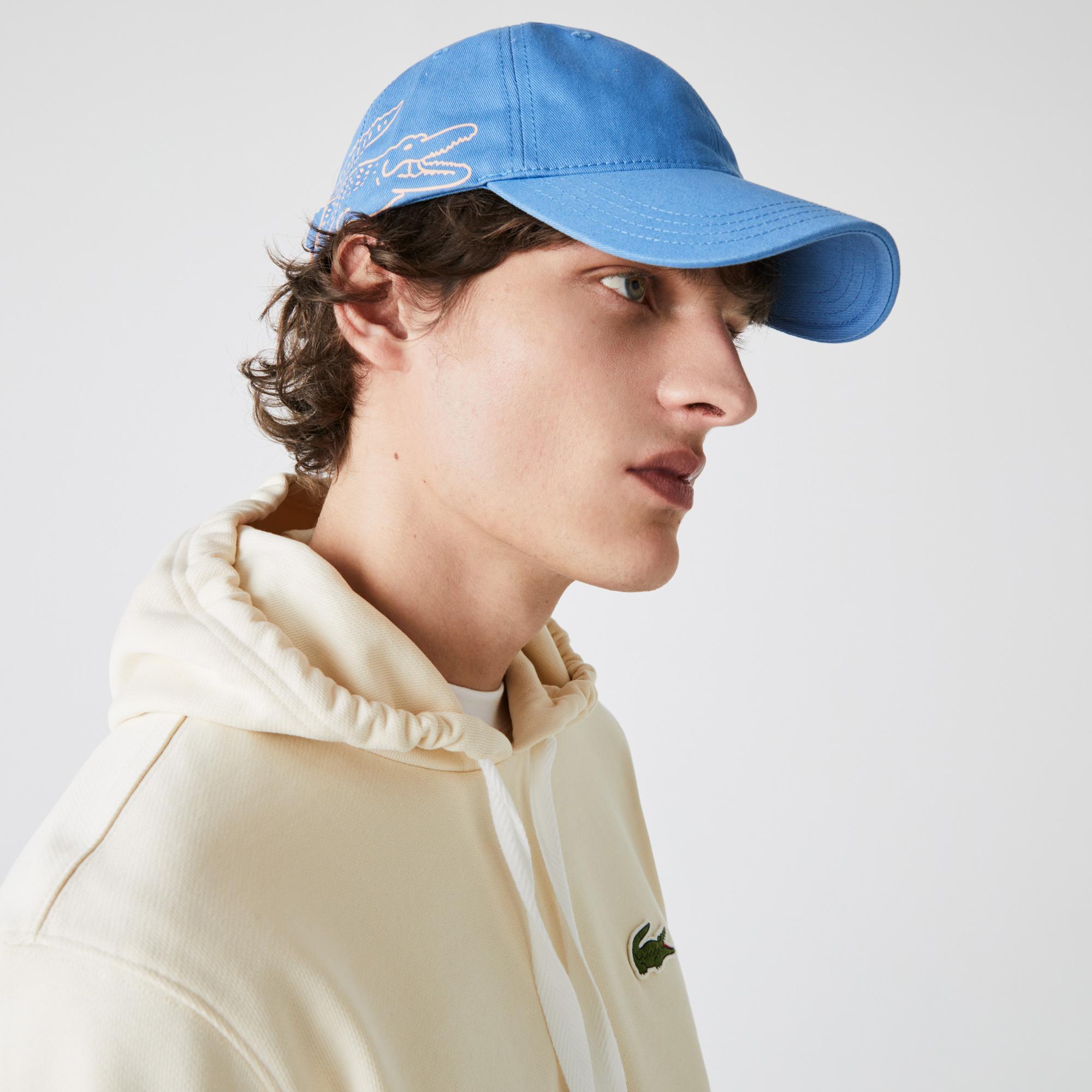 Lacoste Erkek Baskılı Mavi Şapka