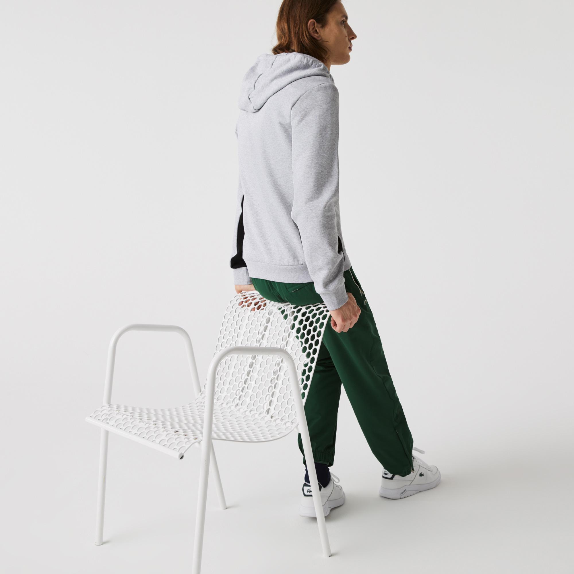 Lacoste Men?s Hooded Colourblock Fleece Zip Sweatshirt