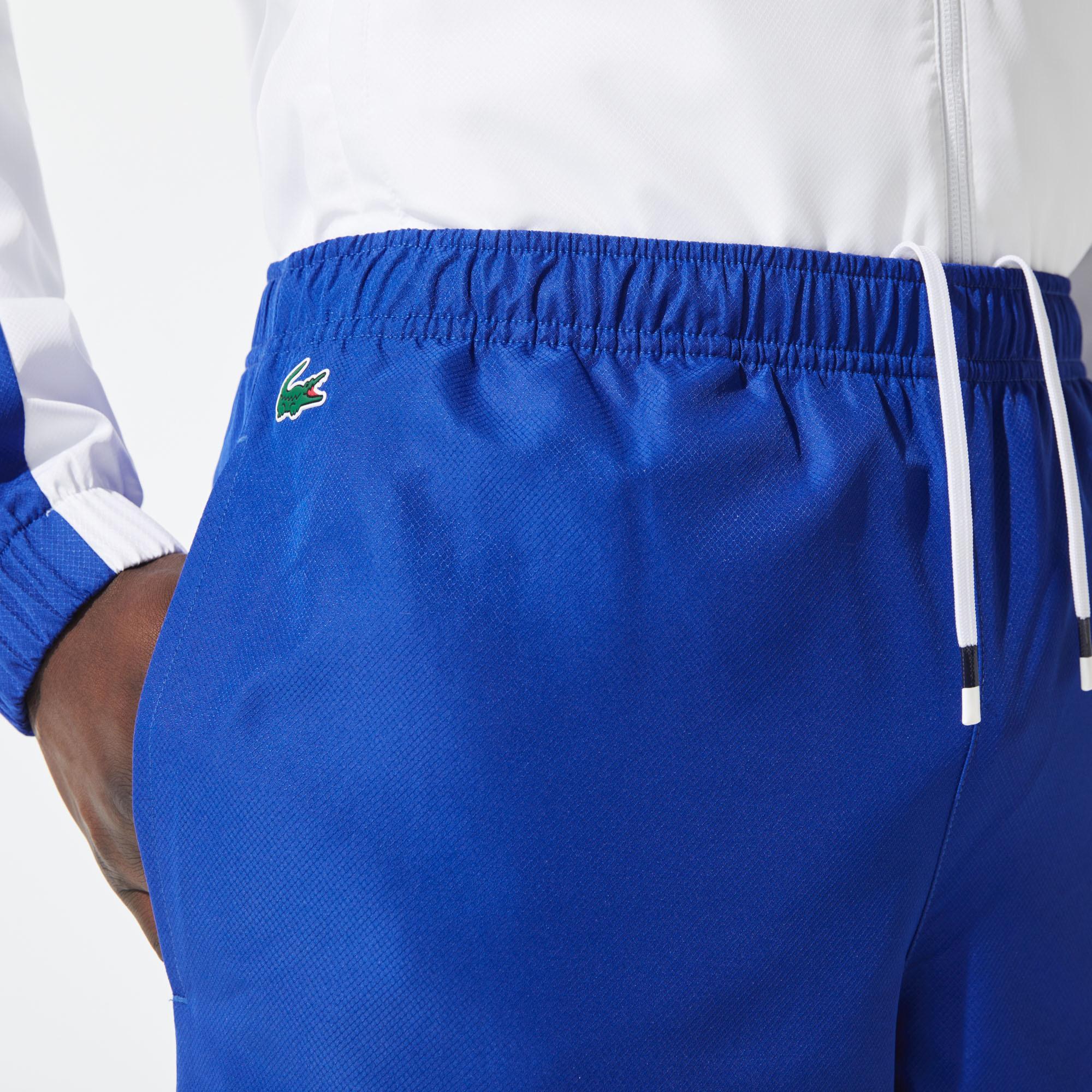 Lacoste Sport Erkek Uzun Kollu Fermuarlı Renk Bloklu Renkli Eşofman Takımı