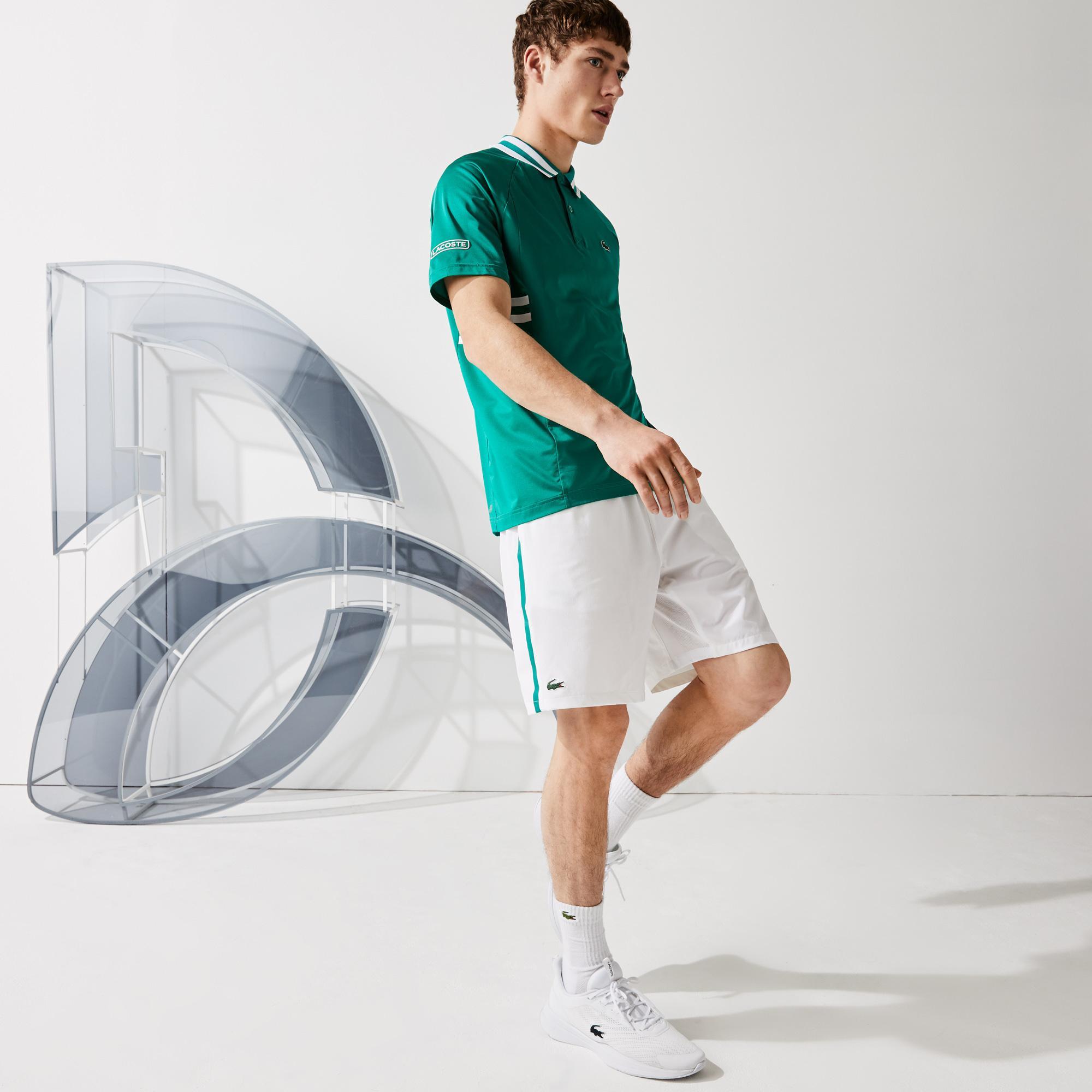 Lacoste Sport Novak Djokovic Erkek Beyaz Şort