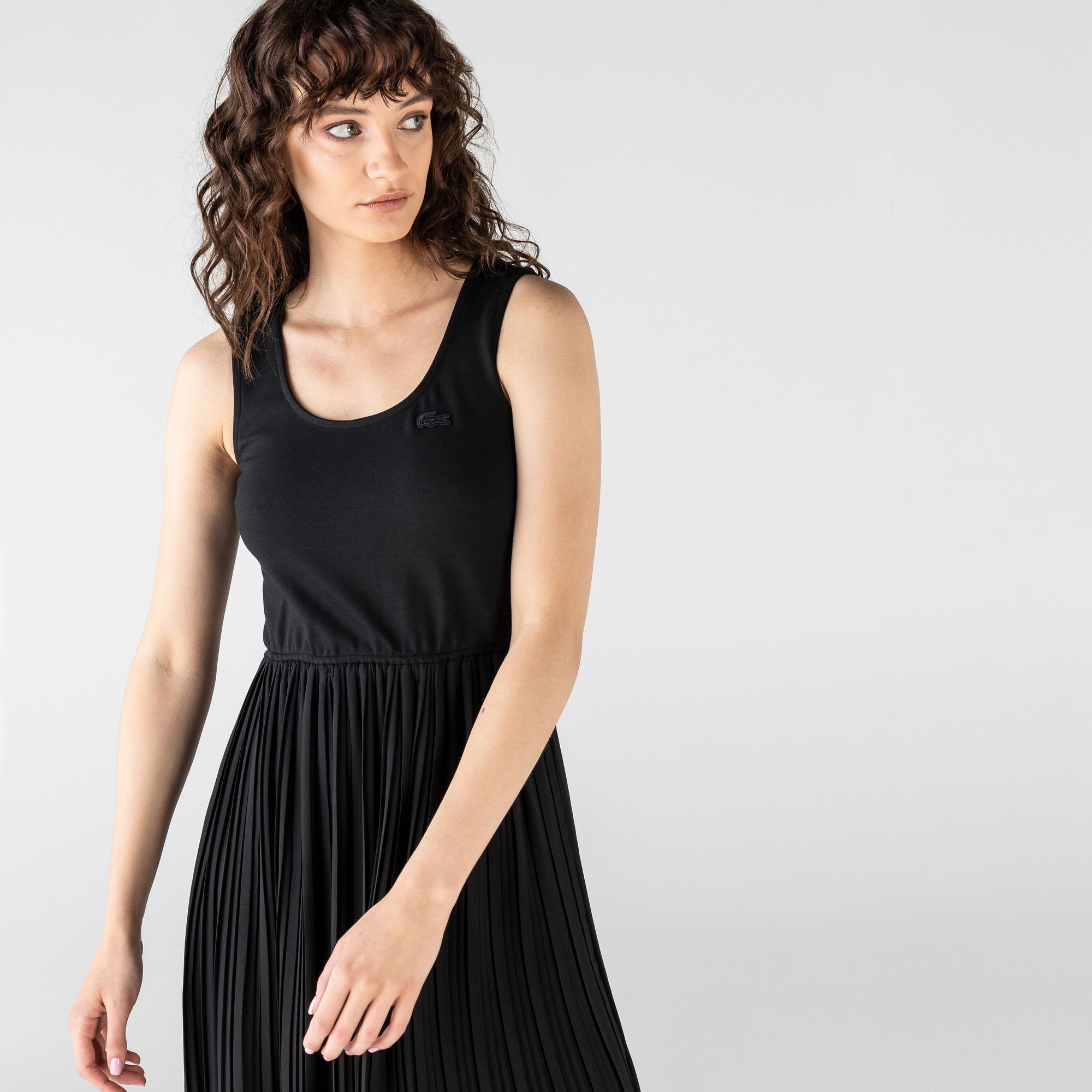 Lacoste Kadın Kolsuz Siyah Elbise