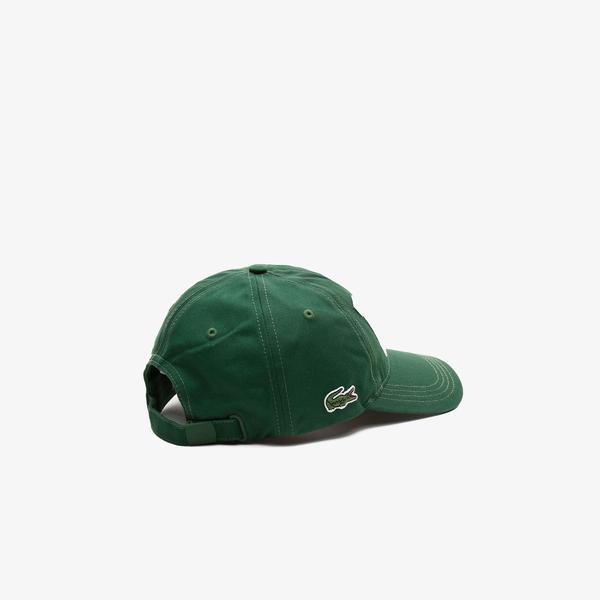Lacoste Erkek Baskılı Yeşil Şapka