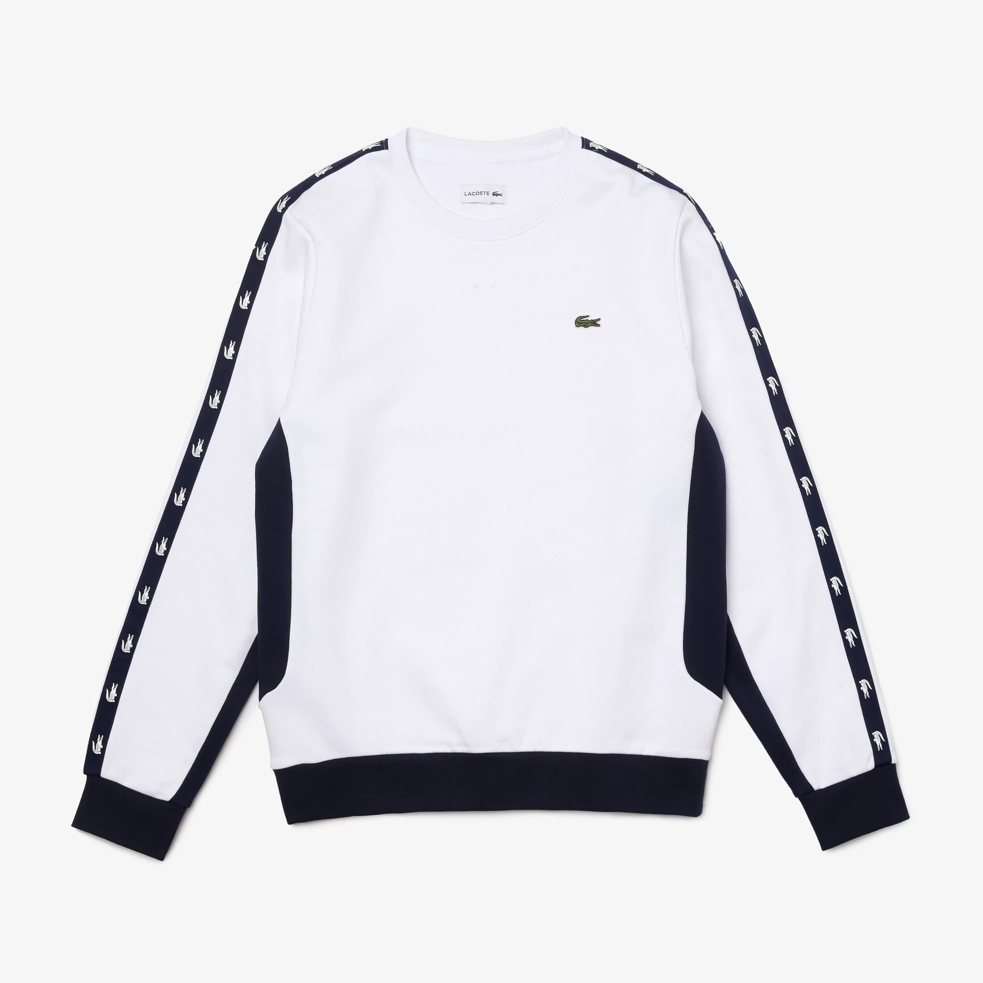 Lacoste Men?s Crew Neck Colourblock Fleece Sweatshirt