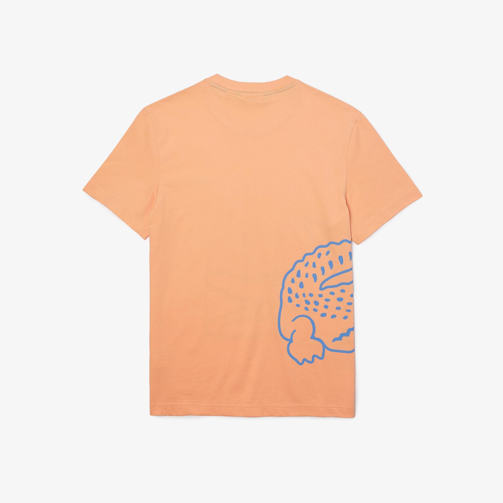 Lacoste Erkek Regular Fit Bisiklet Yaka Baskılı Turuncu T-Shirt