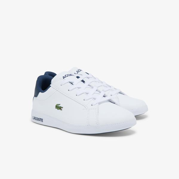 Lacoste Graduate 0721 1 Suc Çocuk Beyaz - Lacivert Sneaker