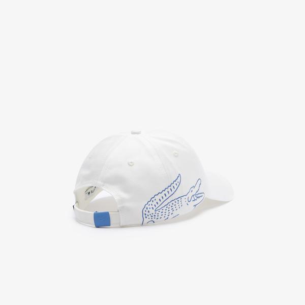 Lacoste Erkek Baskılı Beyaz Şapka