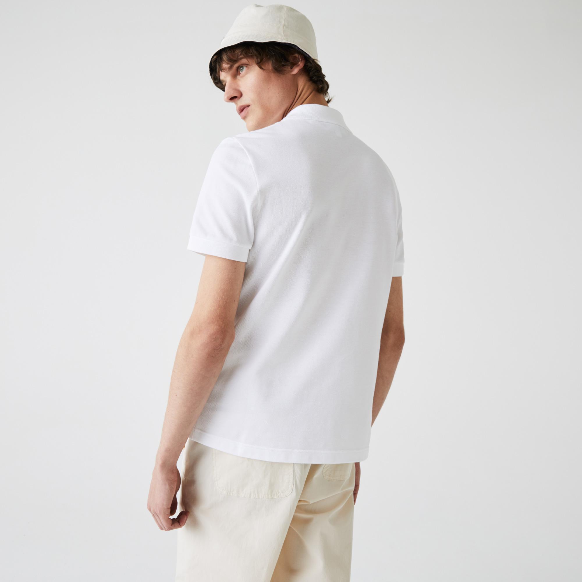 Lacoste Erkek Regular Fit Nakışlı Beyaz Polo