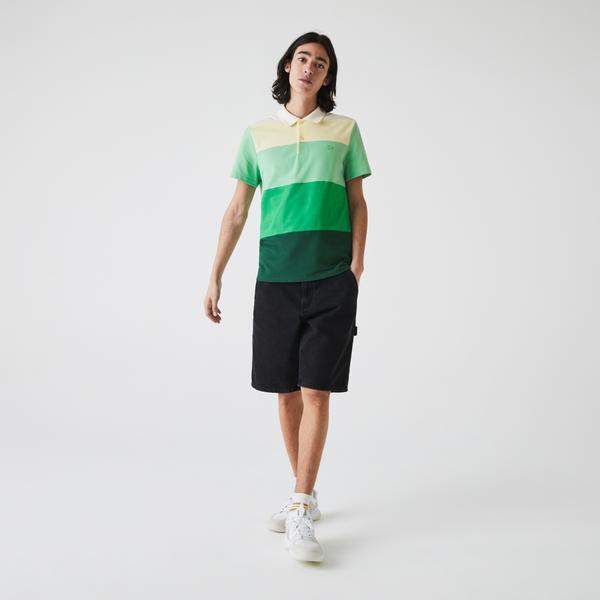 Lacoste Erkek Regular Fit Renk Bloklu Renkli Polo