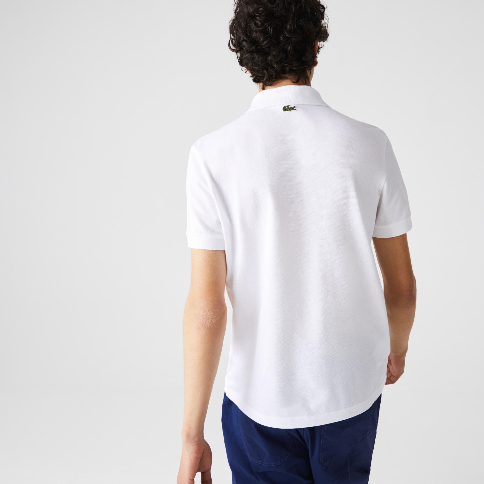 Lacoste Erkek Regular Fit Baskılı Beyaz Polo