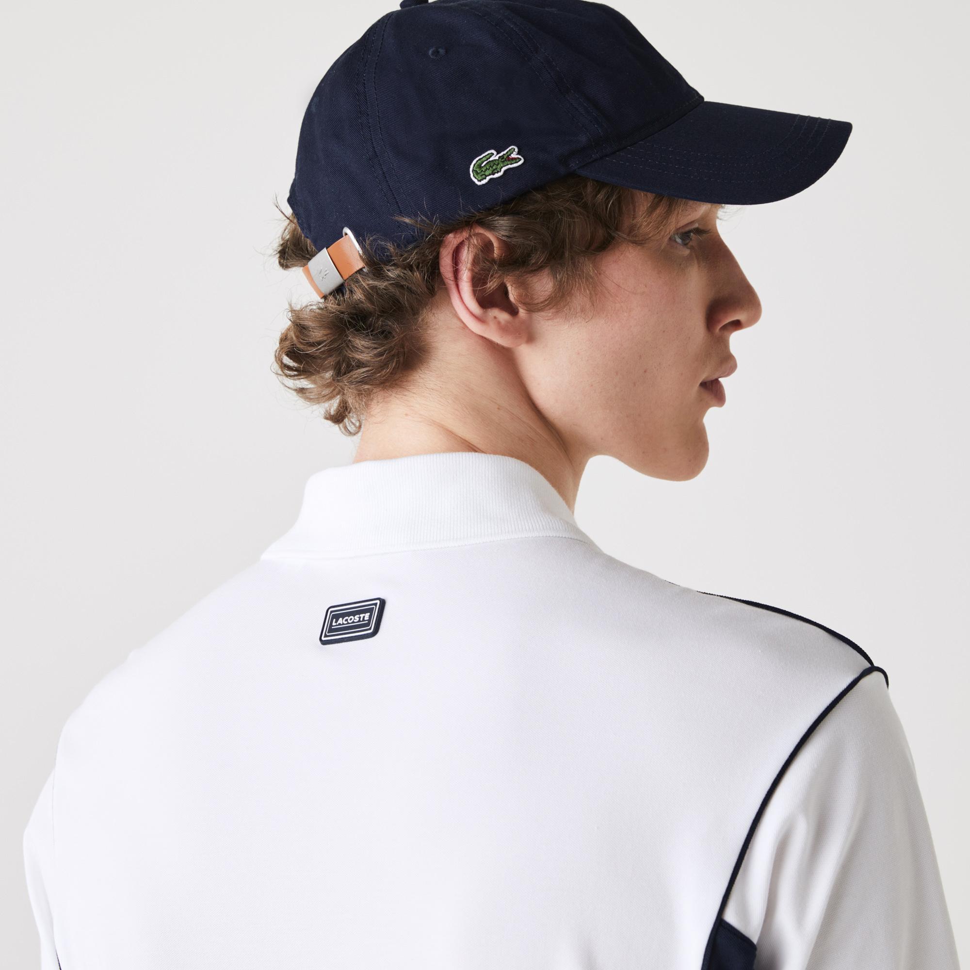 Lacoste Erkek Rahat Fit Renk Bloklu Beyaz - Lacivert Polo