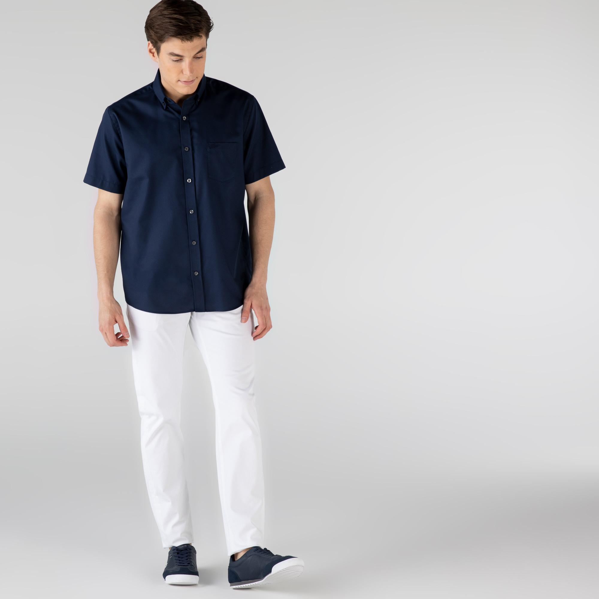 Lacoste Erkek Slim Fit Beyaz Denim Pantolon