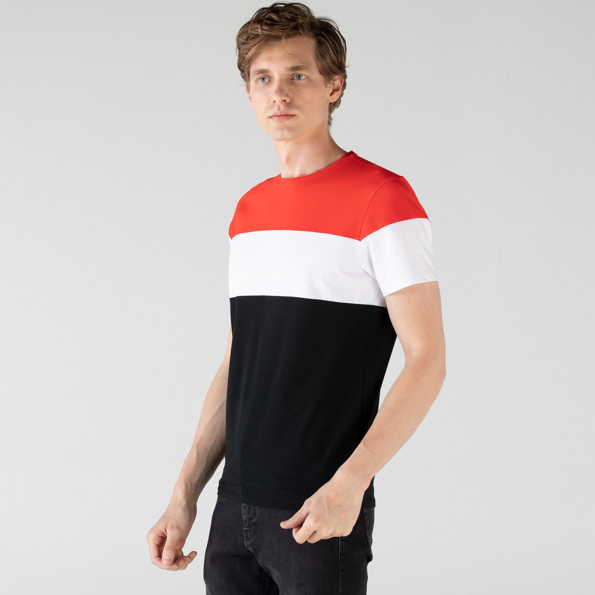 Lacoste Erkek Renk Bloklu Renkli T-Shirt