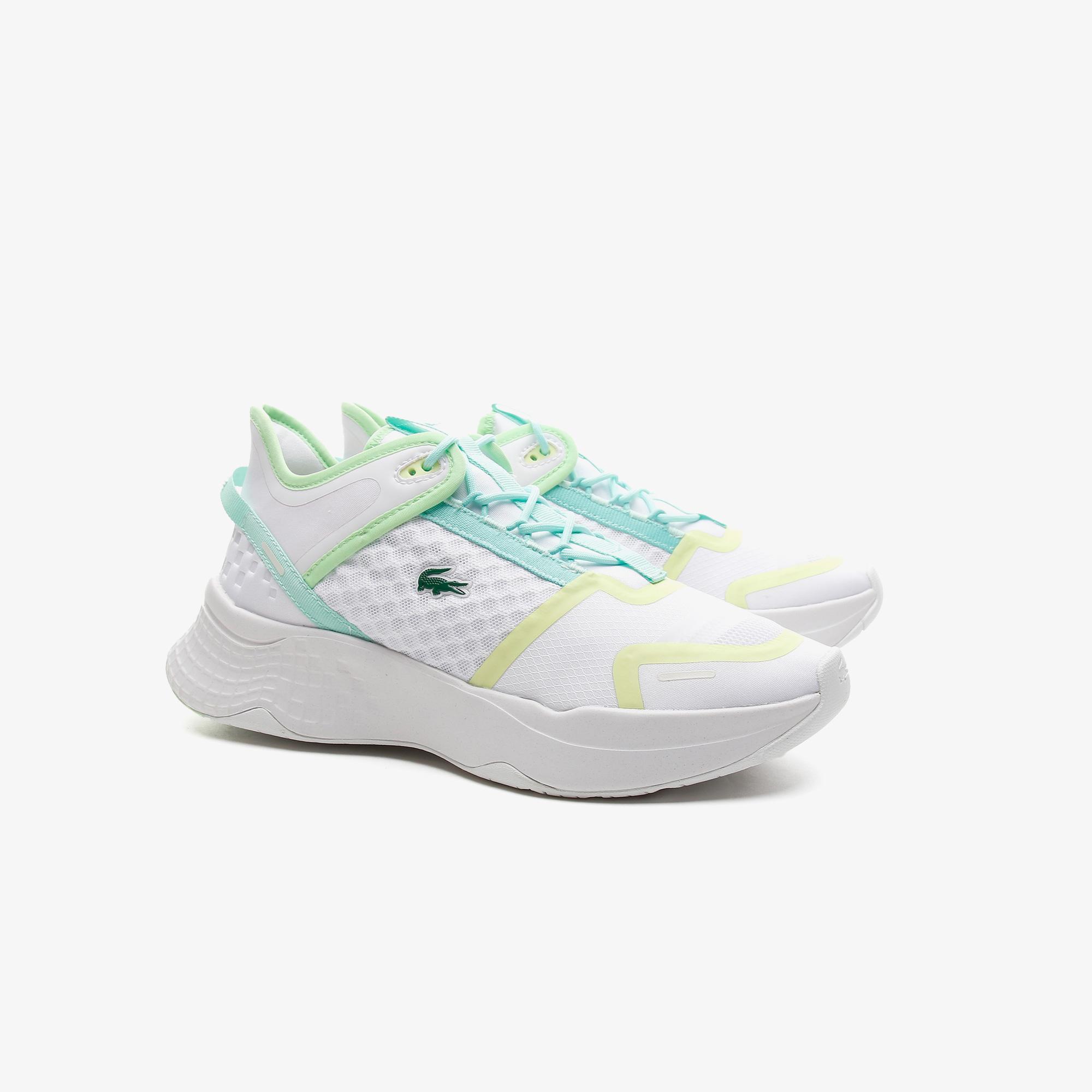 Lacoste Court-Drive Vntge07212Sfa Kadın Deri Beyaz - Sarı Sneaker