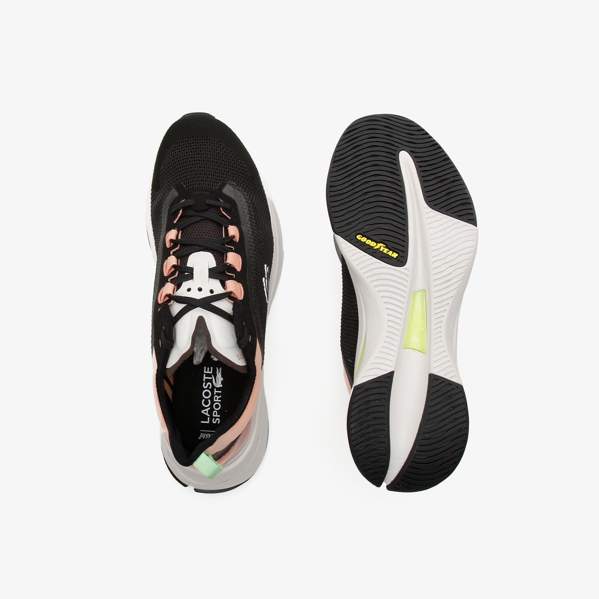 Lacoste Run Spin Ultra 0921 1 Sfa Kadın Deri Pembe - Antrasit Sneaker