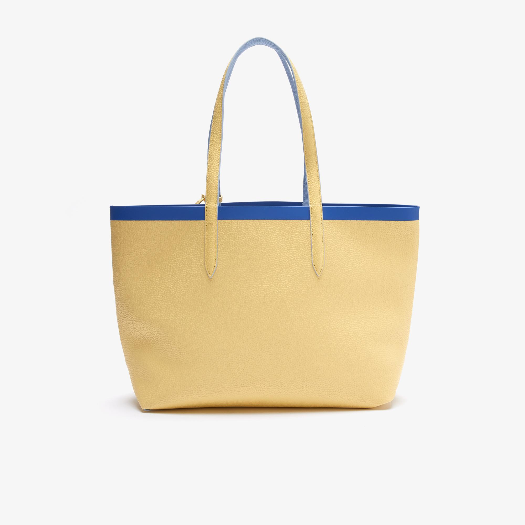 Lacoste Anna Kadın Mavi - Sarı Çift Taraflı Çanta