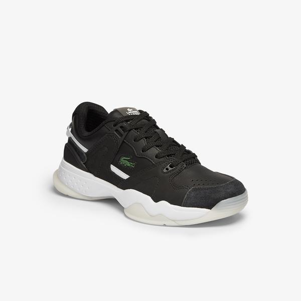 Lacoste T-Point 0721 1 G Sfa Kadın Siyah - Beyaz Sneaker