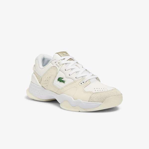 Lacoste T-Point 0721 1 G Sfa Kadın Deri Bej Sneaker