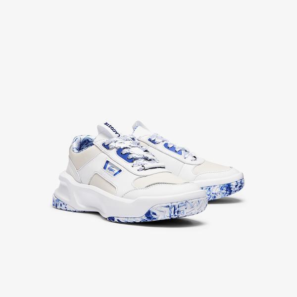 Lacoste Ace Lift 1121 1 Sfa Kadın Deri Beyaz - Mavi Sneaker