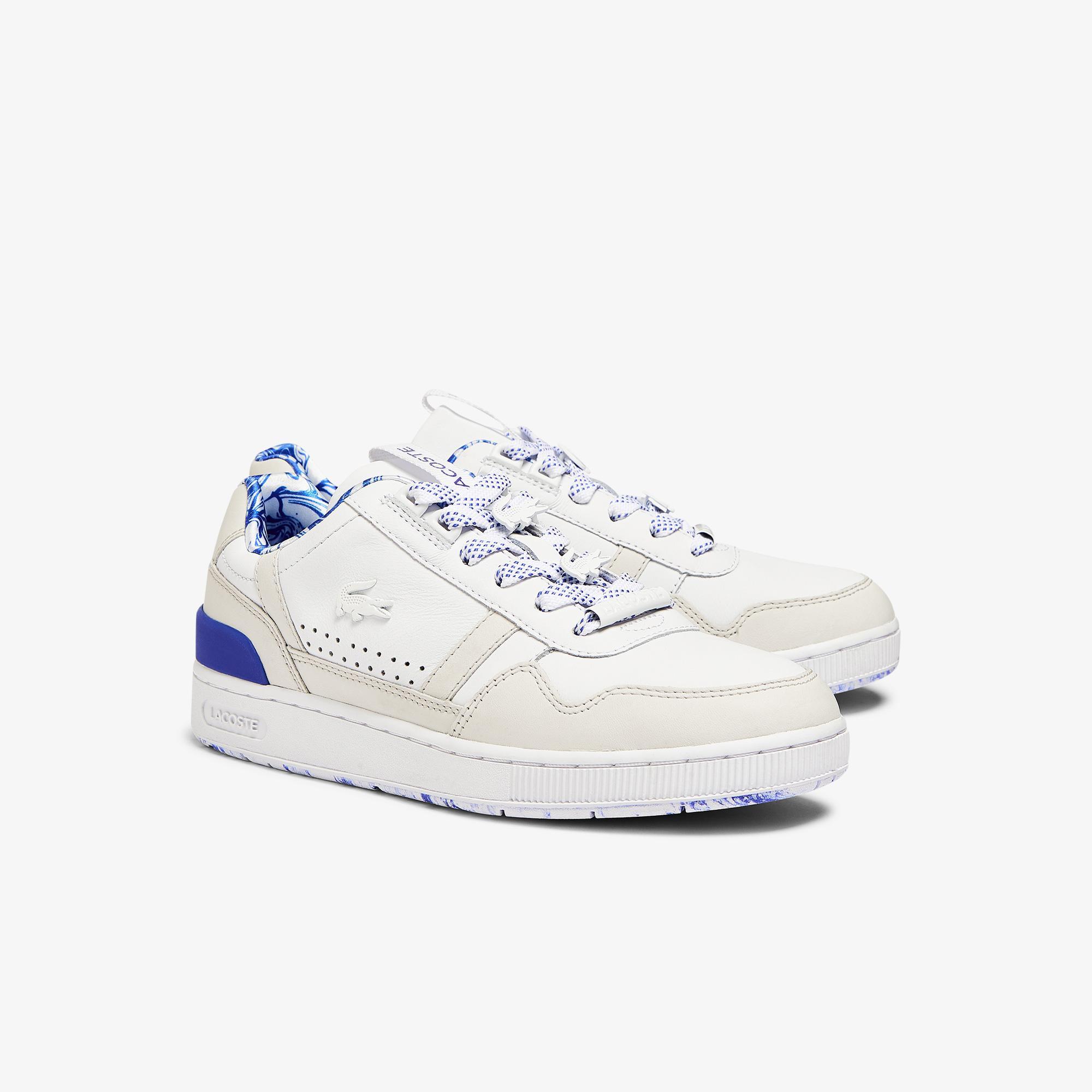 Lacoste T-Clip 1121 1 Sfa Kadın Beyaz - Mavi Sneaker