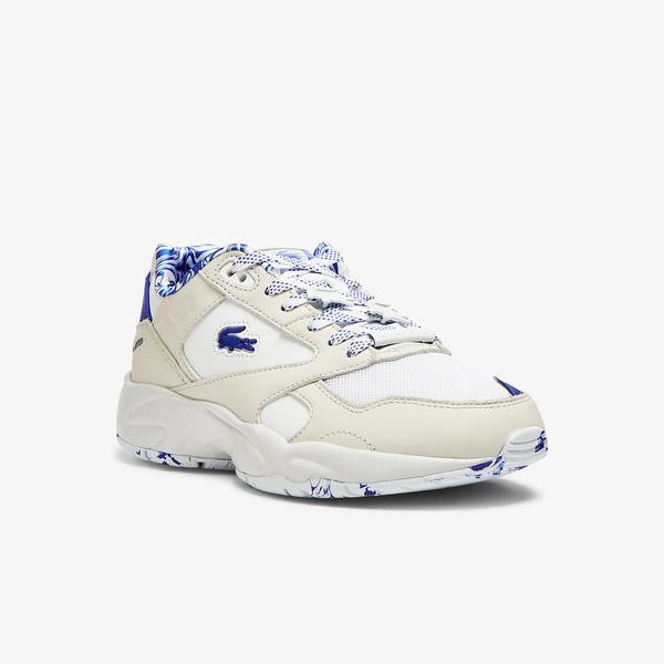 Lacoste Storm 96 Lo 1121 1 Sfa Kadın Beyaz - Mavi Sneaker