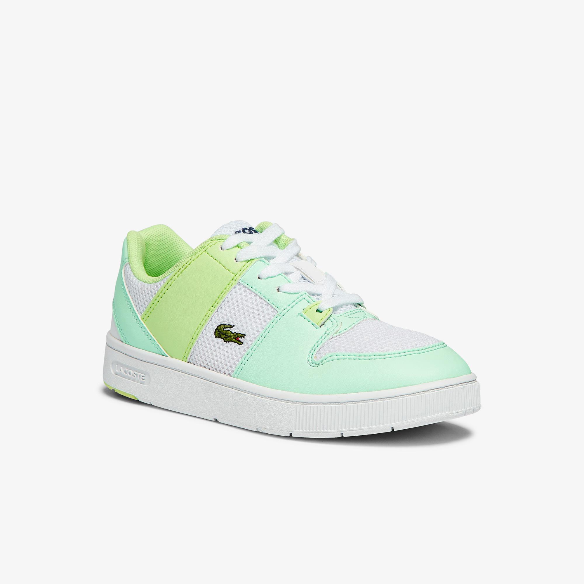 Lacoste Thrill 1121 1 Suc Çocuk Beyaz - Açık Mavi Sneaker