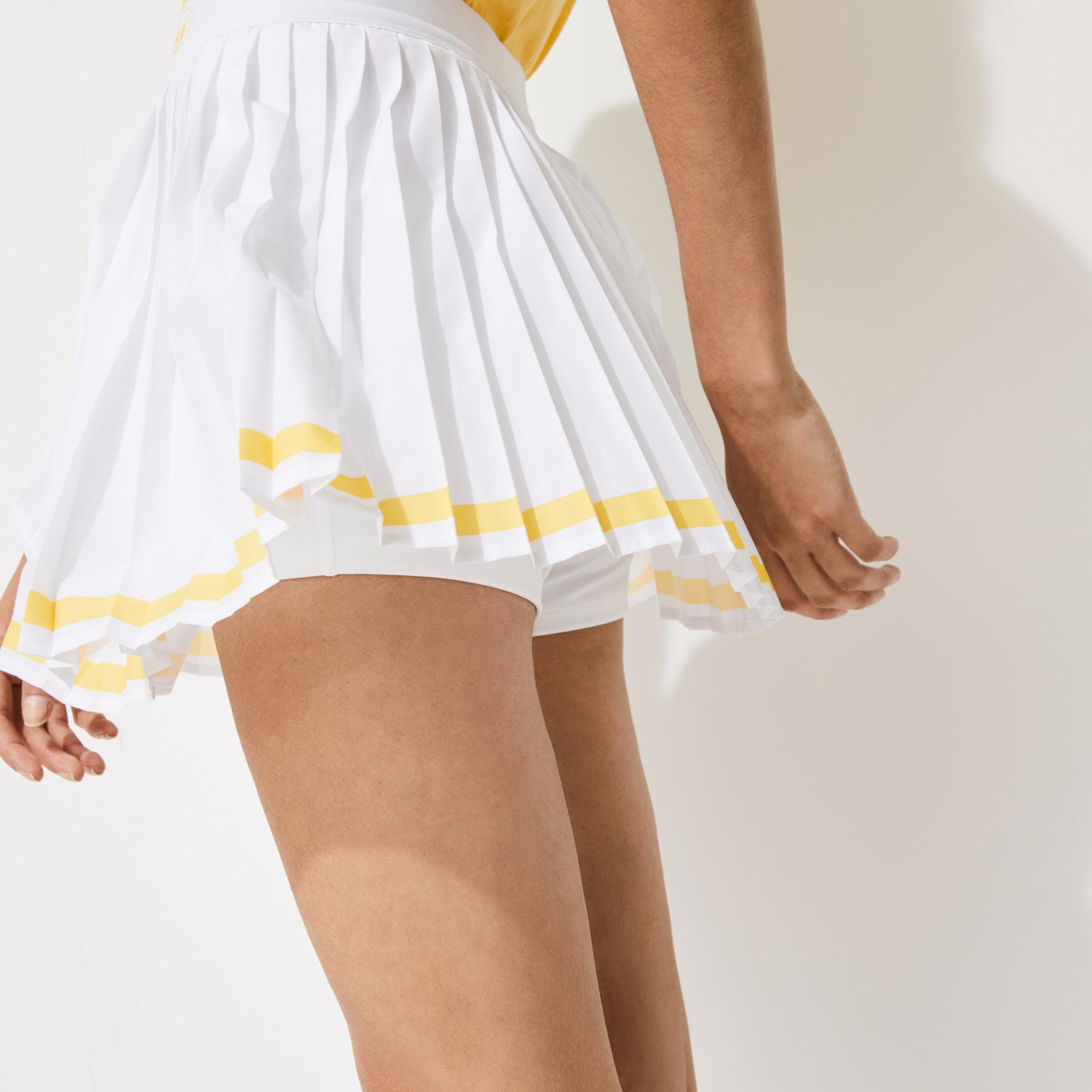 Lacoste Sport Roland Garros Kadın Piliseli Beyaz Etek