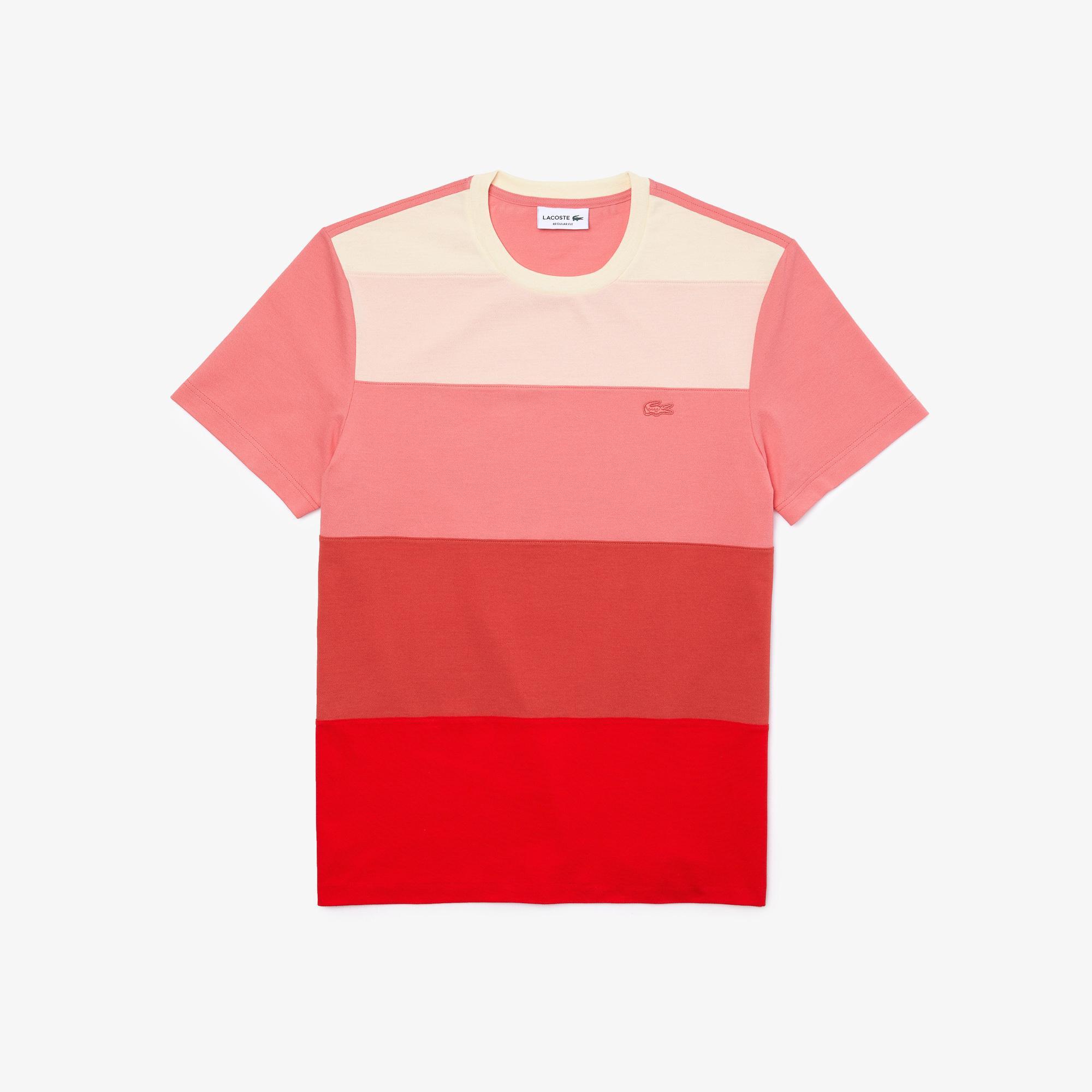 Lacoste Erkek Regular Fit Bisiklet Yaka Renk Bloklu Renkli T-Shirt