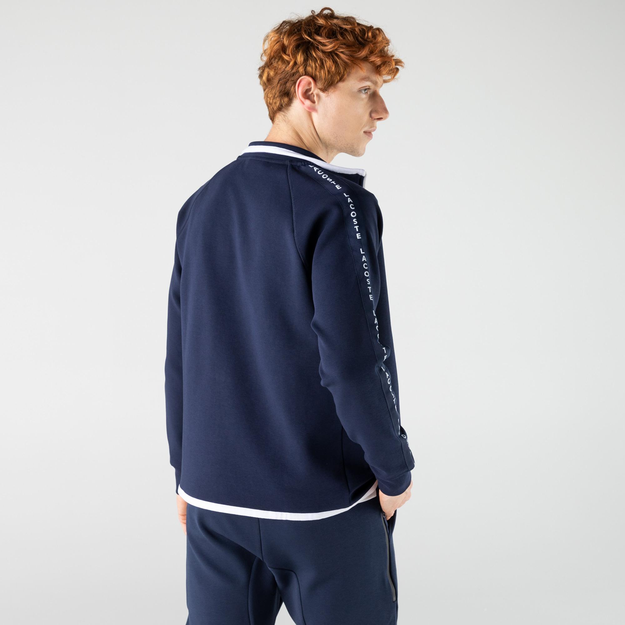 Lacoste Erkek Regular Fit Fermuarlı Lacivert Sweatshirt