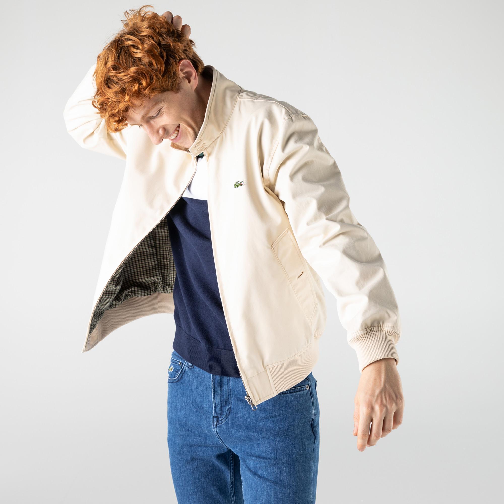 Lacoste Erkek Fermuarlı Krem Ceket