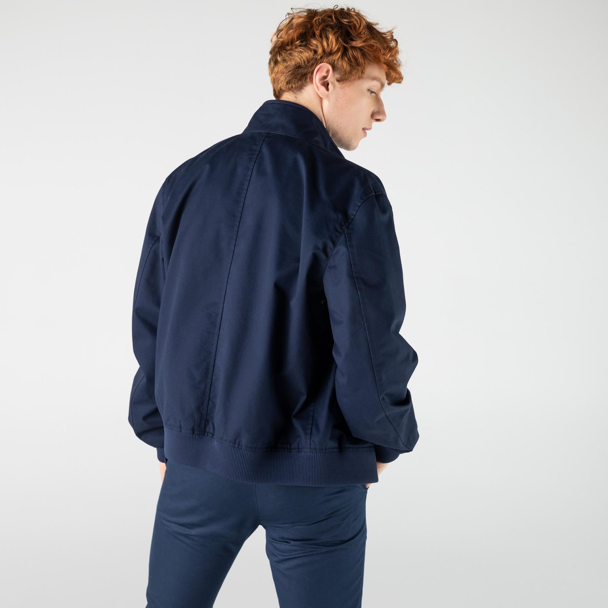 Lacoste Erkek Fermuarlı Lacivert Ceket